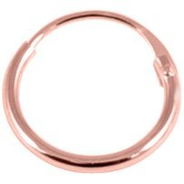 PVD Rose Gold on Sterling Silver Sleeper Ring