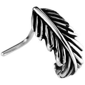 Oxidised Steel Feather Nose Wrap