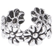 925 Sterling Silver Ear Cuff - Daisies
