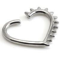 Spikey Heart-Shaped Steel Continuous Ring