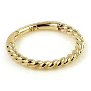 14ct Yellow Gold Twisted Rope Hinged Ring