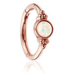 14ct Rose Gold Hinged Fancy Opal Ring