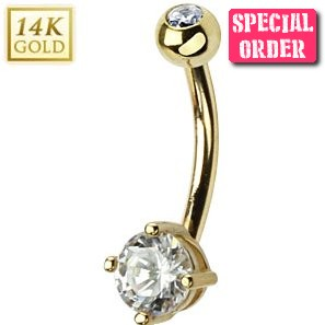 Buy Real Gold Belly Bars From Our Uk Body Jewellery Shop